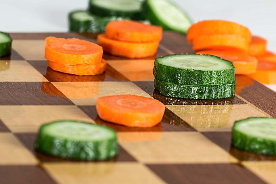 Šachy se zeleninou