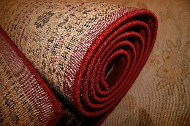 srulovaný koberec